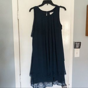 Jessica Simpson Navy Dress w/ Scallop Detailing